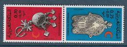 MAROC - N°723/4A **  Paire Tête-bêche (1975) Croissant Rouge - Bijoux - - Maroc (1956-...)