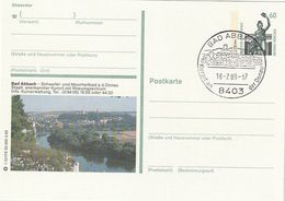 """Bundesrepublik Deutschland / 1989 / Bildpostkarte """"BAD ABBACH"""" Mit Bildgleichem Stempel (CA06) - Illustrated Postcards - Used"""