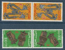 MAROC - N°523/4A **  Paire Tête-bêche (1967) Croissant Rouge - Bijoux - - Maroc (1956-...)