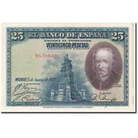 Billet, Espagne, 25 Pesetas, 1928, 1928-08-15, KM:74a, TTB - [ 1] …-1931 : Premiers Billets (Banco De España)