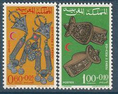 MAROC - N°523/4 ** (1967) Croissant Rouge - Bijoux - - Maroc (1956-...)