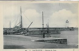 17 Charente Maritime, LA FLOTTE EN RE, Entrée Du Port, Scan Recto Verso - Altri Comuni