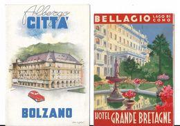 ITALIE. FRANCE.......2 DEPLIANTS TOURISTIQUES.*.BELLAGIO 1938*..... BOLZANO ..PAR ALDO CIGLERI * - Dépliants Touristiques