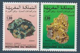 MAROC - N°1039/40 ** (1987) Minéraux - Maroc (1956-...)