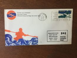 CANADA 1979 FDC PREMIER JOUR CHAMPIONNATS DU MONDE DE CANOE KAYAK - Omslagen Van De Eerste Dagen (FDC)