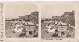 Ille Et Vilaine : SAINT-MALO : La Plage Des Boys : Bains Martel - Buvette ( Photo Stéréoscopique ) - Vues De France - - Stereoscopic