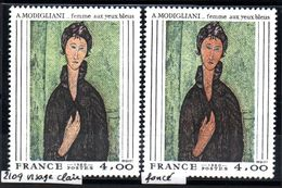 YT N° 2109 - Visage Clair + Visage Bronzé - Neufs ** - Errors & Oddities