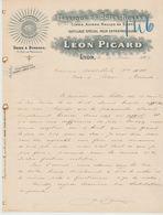 RHÔNE: Léon PICARD, Scies à Rubans, Limes, Meules, R. De Marseille à Lyon / L. 1904 > Lerm - Petits Métiers