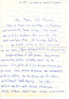 Lettre Manuscrite 1976 Papa Maman Famille La Colle Sur Loup Gorges De Cians Villaz Valbey Alpes - Manuscrits