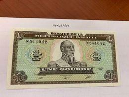 Haiti 1 Gourde Uncirc. Banknote 1989 - Haiti