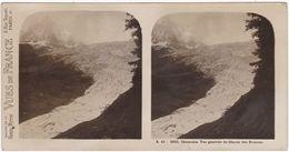 Haute Savoie : CHAMONIX : Vue Générale Du Glacier Des Bossons :  ( Photo Stéréoscopique ) - Vues De France - - Fotos Estereoscópicas