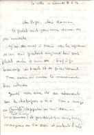 Lettre Manuscrite 1976 Papa Maman Famille La Colle Sur Loup Nice Alpes Menton Saint Bernard Monaco - Manuscrits