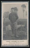 GESNEUVELD TE LANGEMARK 28 SEPT 1918  - BERNARD GEMEEN  GENT 1888   2 SCANS - Overlijden