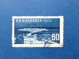 1958 BULGARIA BULGARIE PENISOLA E HOTEL NESSEBAR 60 ST FRANCOBOLLO USATO STAMP USED - 1945-59 République Populaire