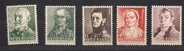 Pays-Bas Nederland 1941 Yvertn° 382-386 *** MNH Cote 6 € - Unused Stamps