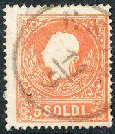 Stamps Austria LOMBARDY-VENETIA 1858 5s Used Lot18 - Usati