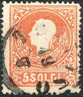 Stamps Austria LOMBARDY-VENETIA 1858 5s Used Lot19 - Usati