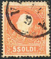 Stamps Austria LOMBARDY-VENETIA 1858 5s Used Lot23 - Usati