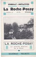 86  LA ROCHE POSAY .DEPLIANT TOURISTIQUE ET THERMAL . 6  FEUILLETS .INFORMATIONS. SOINS .LOISIRS.. - Dépliants Touristiques