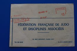 LYON 1967-68- FÉDÉRATION FRANÇAISE DE JUDO ET DISCIPLINES ASSOCIÉES  LICENCE CARTE NATIONALE - Arti Martiali
