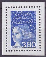 Timbre Neuf ** N° 3093a(Yvert) France 2001 - Marianne Du 14 Juillet 3,80 F Bleu, Sans Phosphore - 1997-04 Marianne Of July 14th
