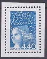 Timbre Neuf ** N° 3095a(Yvert) France 2001 - Marianne Du 14 Juillet 4,40 F Bleu, Sans Phosphore - 1997-04 Marianne Of July 14th