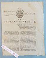 Exemplaire N°1 Du ROUGIFF Ou Le Frank En Vedette Journal Révolutionnaire Fondé Par Armand-Joseph GUFFROY Révolution RARE - Documents Historiques