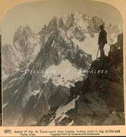 Chamonix * Ascension Aiguille Du Tacul, Vue Aiguille Verte - Photo Stéréoscopique 1901 - Voir Scans - Photos Stéréoscopiques