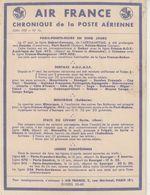 AIR FRANCE : CHRONIQUE DE LA POSTE AERIENNE . JUIN 1937 . LEGERE PLIURE . - Aviation
