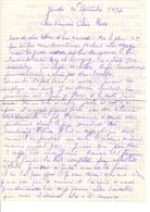 Lettre Manuscrite 1977 Simone Pierre Toret Savigny Villaz Tiercaux - Manuscrits