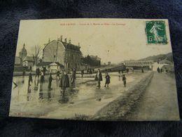 C.P.A.- Bar Le Duc (55) - Canal De La Marne Au Rhin - Gelé - Patinage - 1909 - SUP - (DJ 47) - Bar Le Duc
