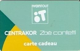 CARTE CADEAU IVANTOUT CENTRAKOR ZOE CONFETTI - Cartes Cadeaux