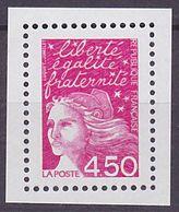 Timbre Neuf ** N° 3096a(Yvert) France 2001 - Marianne Du 14 Juillet 4,50 F Rose, Sans Phosphore - 1997-04 Marianne Of July 14th