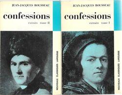 CONFESSIONS (extraits)-J.J.ROUSSEAU-Classiques Larousse 1968--BE - Books, Magazines, Comics