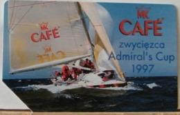 PO105 - POLONIA - POLSKA , URMET - 50 -  CAFE' MK - ZWYCIEZCA ADMIRAL'S CUP 1997 - ADMIRALS CUP - Pologne