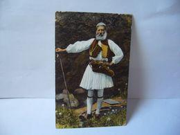 COSTUME GRECO PASTORE COSTUME GREC PATRE GREEK DRESS A SHEPHERD GRECE CPA 1918 FOT ALINARI - Grecia