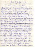 Lettre Manuscrite 1977 Simone Pierre Toret Paris Mr Lesne - Manuscrits