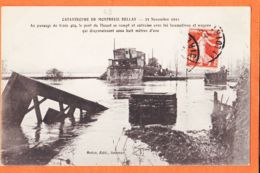 Nw1169 MONTREUIL-BELLAY 49-Maine Loire Catastrophe Train 23 Novembre 1911 Pont THOUET Passage Train 404 Edit ROBIN - Montreuil Bellay