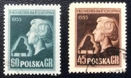 Polska - Poland - Polen - P1/9 - (°)used - 1954 - Chopin Vioolconcours - Michel Nr. 879#880 - Music
