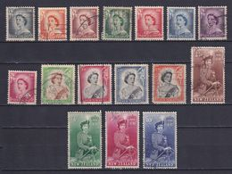 NEW ZEALAND 1953, SG# 723-736, CV £28, Queen Elizabeth II, Used - Usati