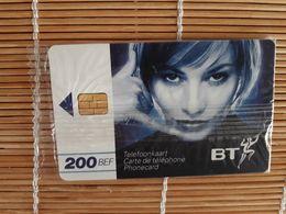 Phonecard BT Belgium 200 BEF With Blister (Mint,Neuve) 2 Scans Rare - Belgique