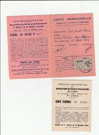 2 CARTES DE PÊCHE ANNÉE 1964 REIMS (51) CARTE FÉDÉRALE PÊCHE ET PISCICULTURE DE L'AISNE (02) TIMBRE TAXE PISCICOLE - Cartes