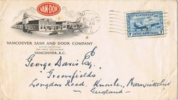 36933. Carta Aerea VANCOUVER (B.C.) Canada 1945. Comercial VAN DOR Company - 1911-1935 Reign Of George V