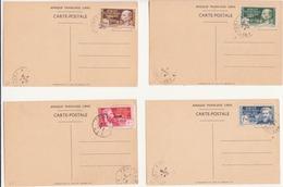 Timbres AEF Sur Carte Postale Brazzaville, Arrivée Du Général De Gaulle Dans La Capitale De La France Llibre 24/10/1940 - A.E.F. (1936-1958)