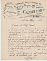 """Hte SAÔNE : E. CORNELOUP """" Au Palais Du Cycle """" Mécanicien R. De La Gare à Lure / L. De 1923 - Transporte"""