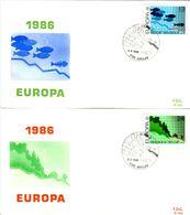 14186041 Belgique  19860503 Auvelais; Europa, Protection Nature Et Environnement; Fdc Cob2211-12 - 1981-90