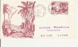 Timbres AOF Sur Enveloppe : Dahomey- Cachet Porto Novo 1956- Numéroté 463/500 - A.O.F. (1934-1959)