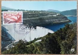 CM 1969 - YT N°1583 - BARRAGE DE VOUGLANS - Maximum Cards