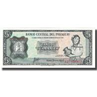 Billet, Paraguay, 5 Guaranies, Undated (1963), KM:195b, NEUF - Paraguay