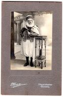 """PHOTO  Sur Carton  """" Spahis En Tenue """"  Studio D' ALGER  Place De La République - Guerre, Militaire"""